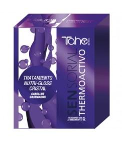 Tahe Botanic - Pack Sensorial THERMOACTIVO para redensificar a fibra (champô 250 ml + 3 tratamentos thermoactivos 15 ml)